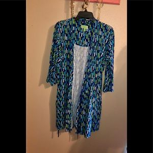 Vera Bradley Navy Teal Green Blue Robe Size Small